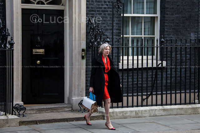 Theresa May MP (Secretary of State for the Home Department).<br />