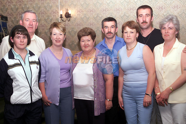 Nan Cudden who celebrated her 60th Birthday in Big Tom's, Duleek with her husband Cllr. Jimmy Cudden and Nicola Herron, Ann, Gerard, Martina, Christopher and Sharon Cudden..Picture Paul Mohan Newsfile