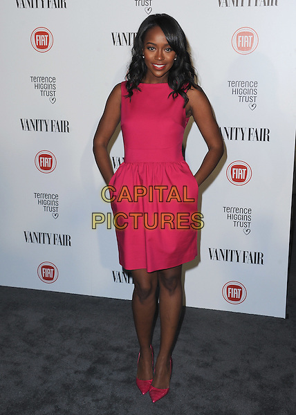 HOLLYWOOD, CA - FEBRUARY 17:  Aja Naomi King at the Vanity Fair and Fiat &quot;Young Hollywood&quot; event at No Vacancy on February 17, 2015 in Hollywood, California. <br /> CAP/MPI/PGSK<br /> &copy;PGSK/MediaPunch/Capital Pictures