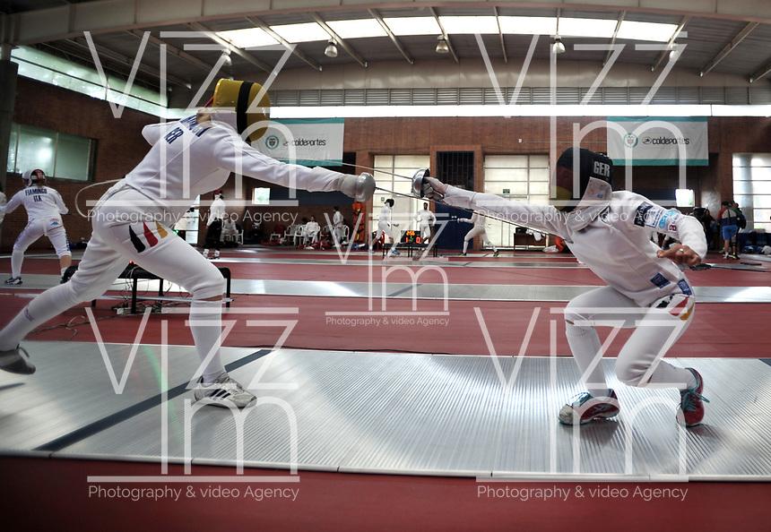 BOGOTA – COLOMBIA – 25 – 05 – 2017: Harnisch (Izq.) y Sozanska (Der.) de Alemania, durante entreno del Gran Prix de Espada Bogota 2017, que se realiza en el Centro de Alto Rendimiento en Altura, del 26 al 28 de mayo del presente año en la ciudad de Bogota.  / Harnisch (L) and Sozanska (R) from Germany, during training of the Grand Prix of Espada Bogota 2017, that takes place in the Center of High Performance in Height, from the 26 to the 28 of May of the present year in The city of Bogota. / Photo: VizzorImage / Luis Ramirez / Staff.