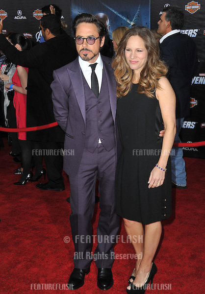 "Robert Downey Jr & wife Susan Downey at the world premiere of his new movie ""Marvel's The Avengers"" at the El Capitan Theatre, Hollywood..April 11, 2012  Los Angeles, CA.Picture: Paul Smith / Featureflash"