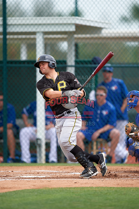 Pittsburgh Pirates Taylor Gushue (38) during a minor league Spring Training game against the Toronto Blue Jays on March 24, 2016 at Pirate City in Bradenton, Florida.  (Mike Janes/Four Seam Images)