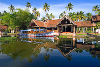 Aleppey, alappuzha, Kerala, India, April 2008. Coconut lagoon by CGH Earth is an oasis of rest in the heart of the backwaters. The backwaters of Kerala are reknowned for its rich history and its importance for the spice trade. Photo by Frits Meyst/Adventure4ever.com