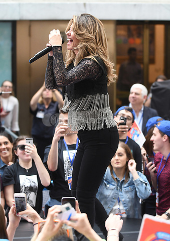 NEW YORK, NY - June 16: Shania Twain performs on NBC's Today on Rockefeller Plaza on June 16,2017 In New York City.@John Palmer / Media Punch
