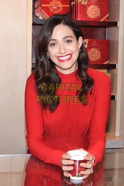 NEW YORK, NY - NOVEMBER 30: Actress Emmy Rossum attends the 'Hot Chocolate For A Cause' event at Godiva on November 30, 2015 in New York City. <br /> CAP/MPI/DC<br /> &copy;DC/MPI/Capital Pictures