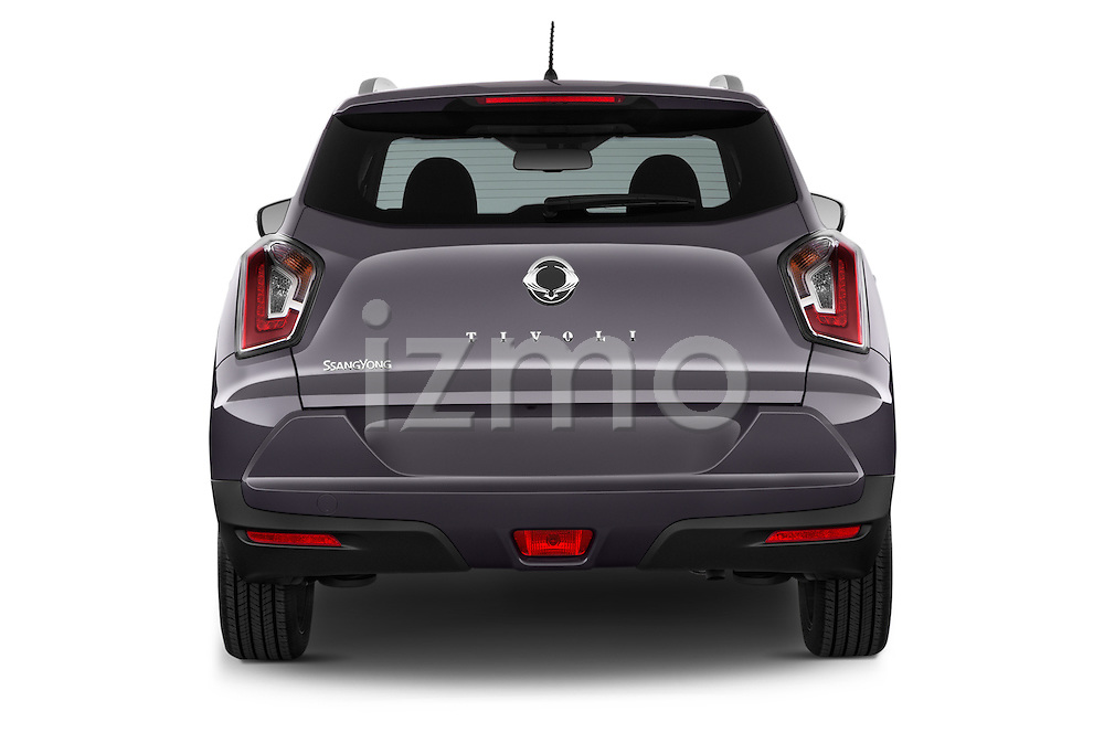 Straight rear view of 2015 Ssangyong Tivoli Quartz 5 Door Suv Rear View  stock images