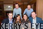 Cian Corbett,Catherine Larkin,Roisín Moroney,Andrew Sheehan,Chris Marr and Stephen Bond enjoying the Westcoast Championship Rally awards in Ballygarry House hotel on Saturday