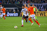 Serge Gnabry (Deutschland Germany) gegen Matthijs de Ligt (Niederlande, Netherlands) - 06.09.2019: Deutschland vs. Niederlande, Volksparkstadion Hamburg, EM-Qualifikation DISCLAIMER: DFB regulations prohibit any use of photographs as image sequences and/or quasi-video.