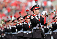 The Ohio State Marching Band takes the field prior to the NCAA football game against San Diego State at Ohio Stadium in Columbus on Sept. 7, 2013. (Adam Cairns / The Columbus Dispatch)