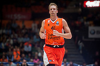 VALENCIA, SPAIN - NOVEMBER 3: Justin Hamilton during EUROCUP match between Valencia Basket Club and CAI Zaragozaat Fonteta Stadium on November 3, 2015 in Valencia, Spain