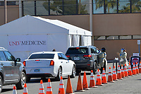 Las Vegas NV - March 24:  UNLV Medicine conduct drive-up COVID-19 testing in Las Vegas, Nevada on March 24, 2020. <br /> CAP/MPI/DAM<br /> ©DAM/MPI/Capital Pictures
