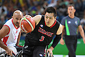 Daisuke Tsuchiko (JPN), <br /> SEPTEMBER 8, 2016 - Wheelchair Basketball : <br /> Preliminary Round Group A<br /> match between Turkey 65-49 Japan<br /> at Carioca Arena 1<br /> during the Rio 2016 Paralympic Games in Rio de Janeiro, Brazil.<br /> (Photo by AFLO SPORT)