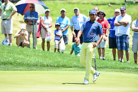 Bethesda, MD - July 1, 2018: Anirban Lahiri watches as his putt just misses the cup on the 7th hole during final round of professional play at the Quicken Loans National Tournament at TPC Potomac at Avenel Farm in Bethesda, MD.  (Photo by Phillip Peters/Media Images International)
