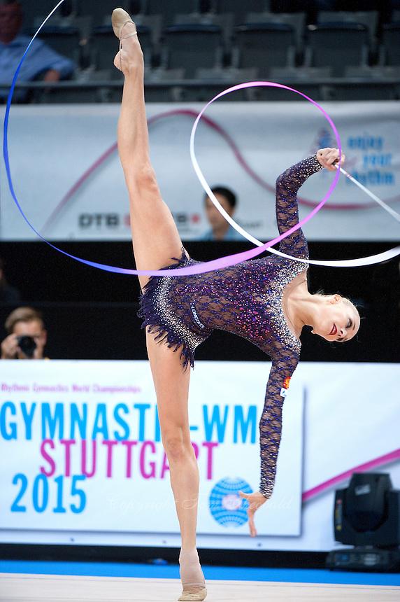September 09, 2015 - Stuttgart, Germany - YANA KUDRYAVTSEVA of Russia performs during AA qualifications at 2015 World Championships.