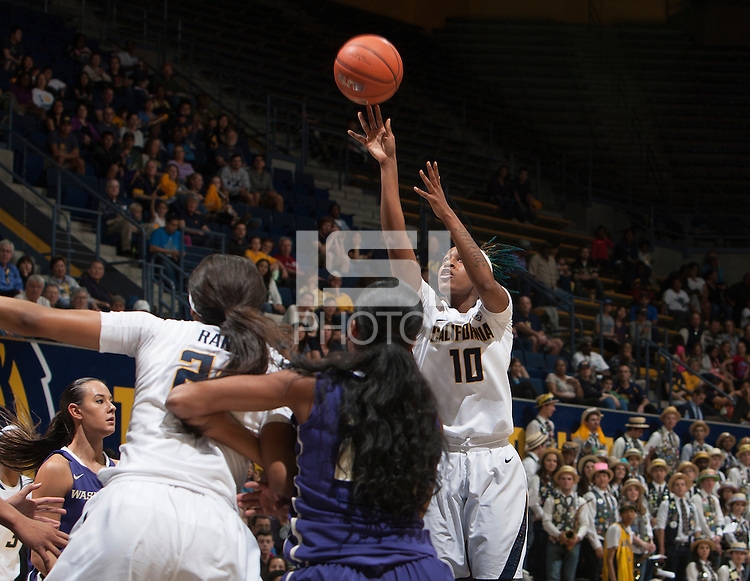 Berkeley, CA - January 31, 2015: California Golden Bears' 82-58 victory over Washington during NCAA Women's Basketball game at Haas Pavilion.