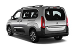 Car pictures of rear three quarter view of a 2019 Citroen Berlingo Shine 5 Door MPV angular rear