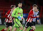 Michael Verrips of Sheffield Utd collects the ball during the Professional Development League match at Bramall Lane, Sheffield. Picture date: 26th November 2019. Picture credit should read: Simon Bellis/Sportimage