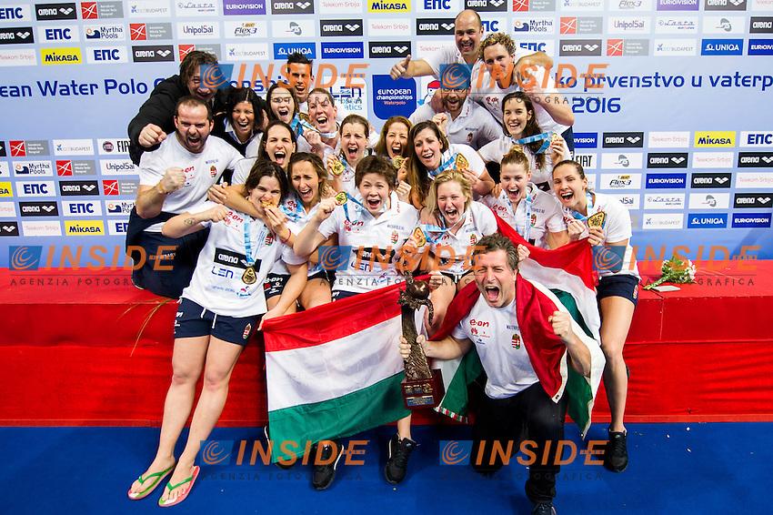 Podio<br /> Team Hungary Gold Medal<br /> LEN European Water Polo Championships 2016<br /> Kombank Arena, Belgrade, Serbia <br /> Day13  22-01-2016<br /> Photo G. Scala/Insidefoto/Deepbluemedia