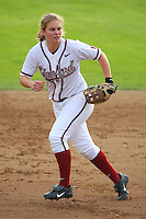 6 March 2008: Stanford Cardinal Shannon Koplitz during Stanford's 2-1 win against the Campbell Fighting Camels at the Boyd & Jill Smith Family Stadium in Stanford, CA.