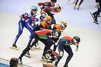 SHORT TRACK: TORINO: 15-01-2017, Palavela, ISU European Short Track Speed Skating Championships, Final Relay Men, Team Italy, Team Hungary, Team Russia, Team Netherlands, ©photo Martin de Jong