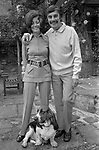 Leslie Thomas, OBE (22 March 1931 – 6 May 2014) was a Welsh author best known for his comic novel The Virgin Soldiers. At home in Berkshire 1971 with Diana Miles his wife.