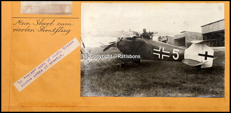 BNPS.co.uk (01202 558833)<br /> Pic: Ratisbons/BNPS<br /> <br /> Pilot Emil Buge in 1918 with his gunner.<br /> <br /> A personal archive belonging to a hero German pilot of the First World War who fought to bring down the Nazis in the second has been discovered.<br /> <br /> Emil Buge flew on 37 sorties against the British on the Western Front, dropping 27 bombs, 128 grenades and firing 9,500 rounds of ammunition.<br /> <br /> Despite his heroics in 1918, Buge was imprisoned at a murderous concentration camp by his own country in the Second World War as a political prisoner. He used his position as an inmate clerk to gather evidence of SS atrocities.