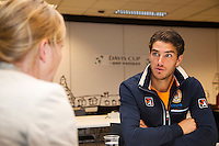 11-sept.-2013,Netherlands, Groningen,  Martini Plaza, Tennis, DavisCup Netherlands-Austria, Interview with Jesse Huta Galung (NED)  <br /> Photo: Henk Koster