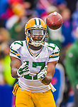 14 December 2014: Green Bay Packers wide receiver Davante Adams warms up prior to facing the Buffalo Bills at Ralph Wilson Stadium in Orchard Park, NY. The Bills defeated the Packers 21-13, snapping the Packers' 5-game winning streak and keeping the Bills' 2014 playoff hopes alive. Mandatory Credit: Ed Wolfstein Photo *** RAW (NEF) Image File Available ***