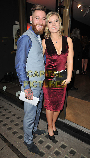 Leon Sofroniou &amp; Emma Wood attend the Sugarbabes interactive website launch &amp; The Sugarbabes TV series trailer premiere, Alon Zakaim Gallery, Dover Street, London, England, UK, on Wednesday 18 November 2015. <br /> CAP/CAN<br /> &copy;CAN/Capital Pictures