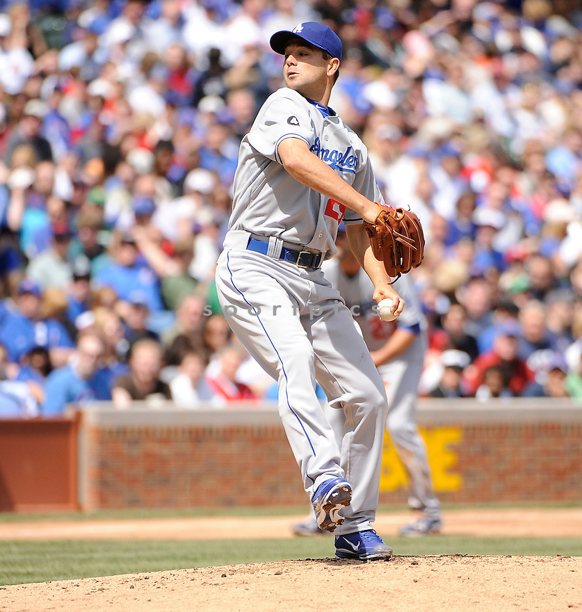 TED LILLY, of the Los Angeles Dodgers, in action during the Dodgers game against the Chicago Cubs, on April 23, 2011 at Wrigley Field in Chicago, Illinois.  The Cubs beat the Dodgers 10-8.