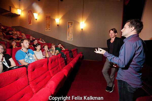 Utrecht, 26 september 2011.Nederlands Film Festival.Favorieten van Frans van Gestel;.Langer Licht van David Lammers (rechts).Foto Felix Kalkman