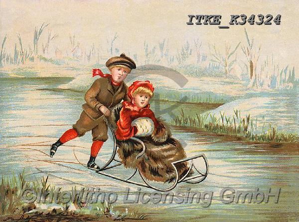 Isabella, CHRISTMAS SANTA, SNOWMAN, WEIHNACHTSMÄNNER, SCHNEEMÄNNER, PAPÁ NOEL, MUÑECOS DE NIEVE, nostalgic, paintings+++++,ITKEK34324,#X#