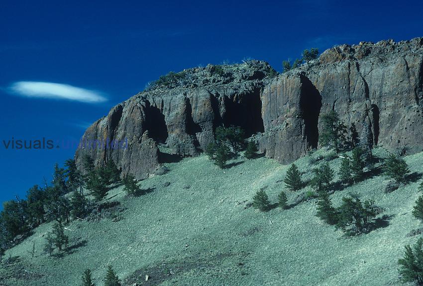 Breccia rock outcrop, Castle Mountain, Colorado, USA.