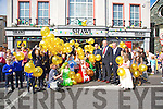 Shaws Tralee celebrate 150 years by Launching 150 balloons with prizes on Saturday with help for Tralee Mayor Jim Finucane, Kieran Ruttledge Tralee Chamber Alliance, and Students from Kilflynn, Listellick and Blennerville schools
