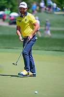 Andy Sullivan (ENG) watches his putt on 2 during round 1 of the Shell Houston Open, Golf Club of Houston, Houston, Texas, USA. 3/30/2017.<br /> Picture: Golffile | Ken Murray<br /> <br /> <br /> All photo usage must carry mandatory copyright credit (&copy; Golffile | Ken Murray)