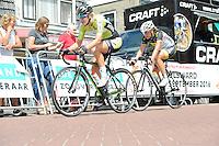 WIELRENNEN: SURHUISERVEEN: 26-07-2016, Profronde dames 2016, Winnares Ilona Hoeksma (op kop) uit Luxwoude, ©foto Martin de Jong
