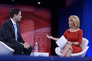 National Harbor, MD - March 5, 2016: CNN anchor Dana Bash asks Sen. Marco Rubio a question during the 2016 Conservative Political Action Conference, hosted by the American Conservative Union, at the Gaylord National Hotel in National Harbor, MD, March 5, 2016.   (Photo by Don Baxter/Media Images International)