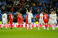 Real Madrid´s Gareth Bale and Sevilla's Stephane Mbia, during 2014-15 La Liga match between Real Madrid and Sevilla at Santiago Bernabeu stadium in Alcorcon, Madrid, Spain. February 04, 2015. (ALTERPHOTOS/Luis Fernandez) /NORTEphoto.com