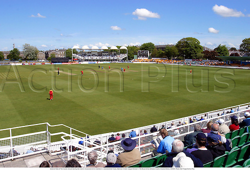 General View of The County Ground during the match, Glouscestershire Gladiators v Leicestershire Foxes, National Cricket League Division 1, The Royal & Sun Alliance County Ground, Bristol, 030505. Photo: Neil Tingle/Action Plus...2003 .cricket .venue venues grounds pitch pitches .