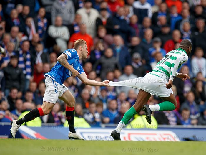 01.09.2019 Rangers v Celtic: Scott Arfield and Olivier Ntcham