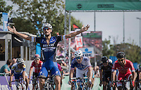 Tom Boonen (BEL/Etixx-Quickstep) wins the (full on) bunch sprint ahead of Arnaud D&eacute;mare (FRA/FDJ) &amp; Nacer Bouhanni (FRA/Cofidis)<br /> <br /> Brussels Cycling Classic 2016
