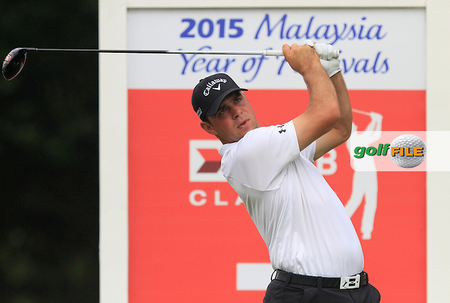 Gary Woodland (USA) on the 7th tee during Round 3 of the CIMB Classic in the Kuala Lumpur Golf &amp; Country Club on Saturday 1st November 2014.<br /> Picture:  Thos Caffrey / www.golffile.ie