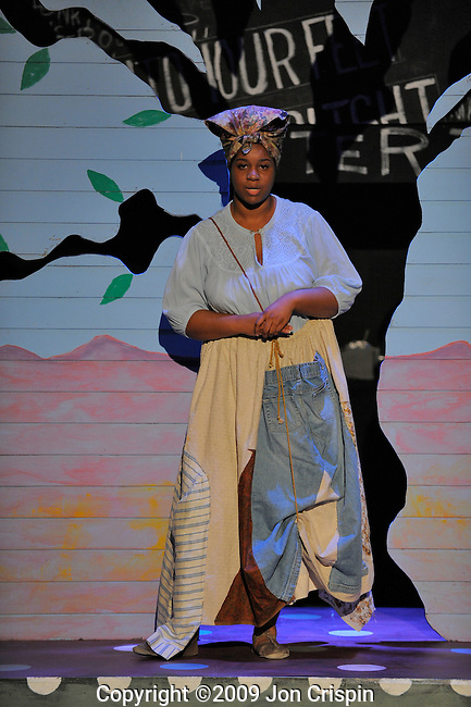 "UMASS Theatre production of ""Jesus Moonwalks on the Mississippi..© 2009 JON CRISPIN .Please Credit   Jon Crispin.Jon Crispin   PO Box 958   Amherst, MA 01004.413 256 6453.ALL RIGHTS RESERVED."