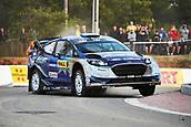 5th October 2017, Costa Daurada, Salou, Spain; FIA World Rally Championship, RallyRACC Catalunya, Spanish Rally; Ott Tanak and his co-driver Martin Jarveoja of Estonia compete in their M Sport World Rally Team Ford Fiesta WRC during the shakedown