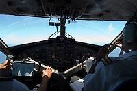 Seychelles, Island Mahé: aircraft of Air Seychelles - cockpit