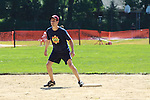 Josh Charles (The Good Wife) bats and gets on base at the 63rd Annual Charity Softball Game 2011 - Artists versus Writers to benefit East Hampton Day Care Learning Center, East End Hospice and Phoenix Houses of Long Island - played at Herrick Park, East Hampton, New York. (Photo by Sue Coflin/Max Photos)