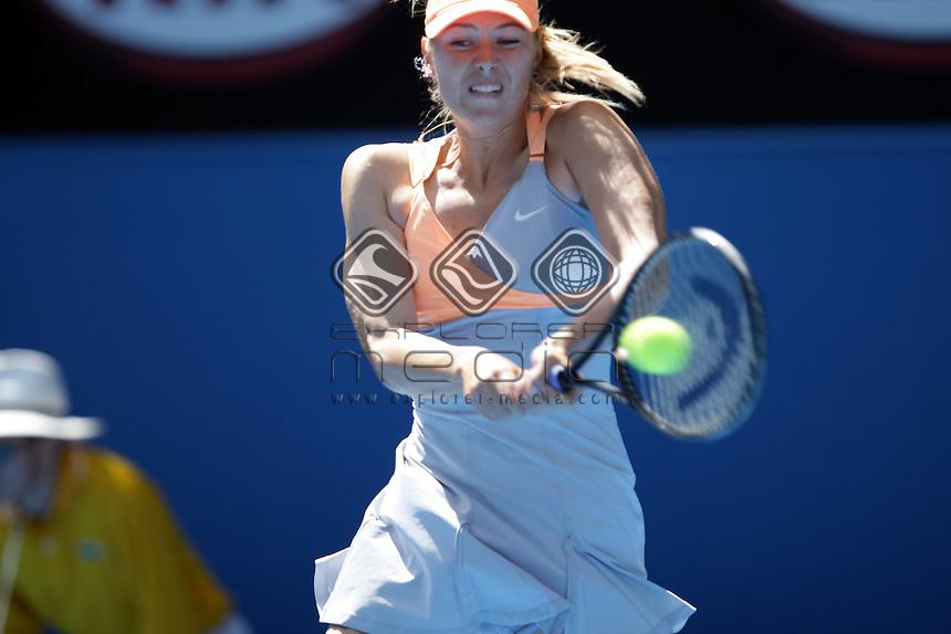 Maria Sharapova (RUS) v Julia Georges (GER)<br /> Women's Singles - Day 5<br /> Tennis - Australian Open 2011<br /> Melbourne Park<br /> Melbourne, Victoria, Australia<br /> 17 - 30 January 2011<br /> &copy; Sport the library