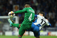 7th November 2019; RCDE Stadium, Barcelona, Catalonia, Spain; UEFA Europa League Football, Real Club Deportiu Espanyol de Barcelona versus PFC Ludogorets Razgrad;  Didac Vila and Cicinho challenge for a loose ball - Editorial Use
