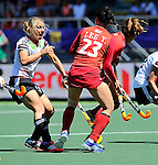 The Hague, Netherlands, June 13: Eileen Hoffmann #11 of Germany reacts to a play during the field hockey placement match (Women - Place 7th/8th) between Korea and Germany on June 13, 2014 during the World Cup 2014 at Kyocera Stadium in The Hague, Netherlands. Final score 4-2 (2-0)  (Photo by Dirk Markgraf / www.265-images.com) *** Local caption ***