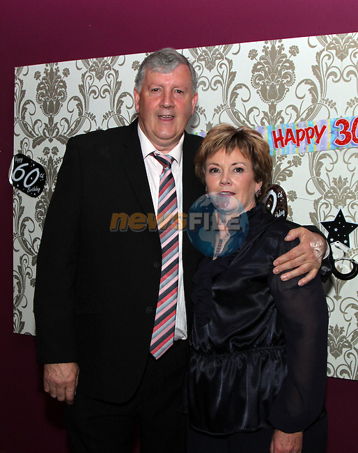 Dessie Dunleavy with his wife Angela at his 60th in the Star and Crescent...(Photo credit should read Jenny Matthews www.newsfile.ie)....This Picture has been sent you under the conditions enclosed by:.Newsfile Ltd..The Studio,.Millmount Abbey,.Drogheda,.Co Meath..Ireland..Tel: +353(0)41-9871240.Fax: +353(0)41-9871260.GSM: +353(0)86-2500958.email: pictures@newsfile.ie.www.newsfile.ie.